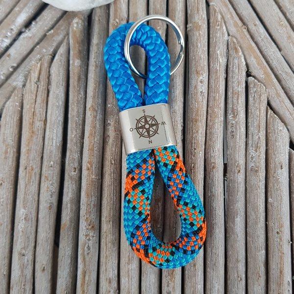 Blautöne Farbpalette: Schlüsselanhänger / Kompass / Blautöne