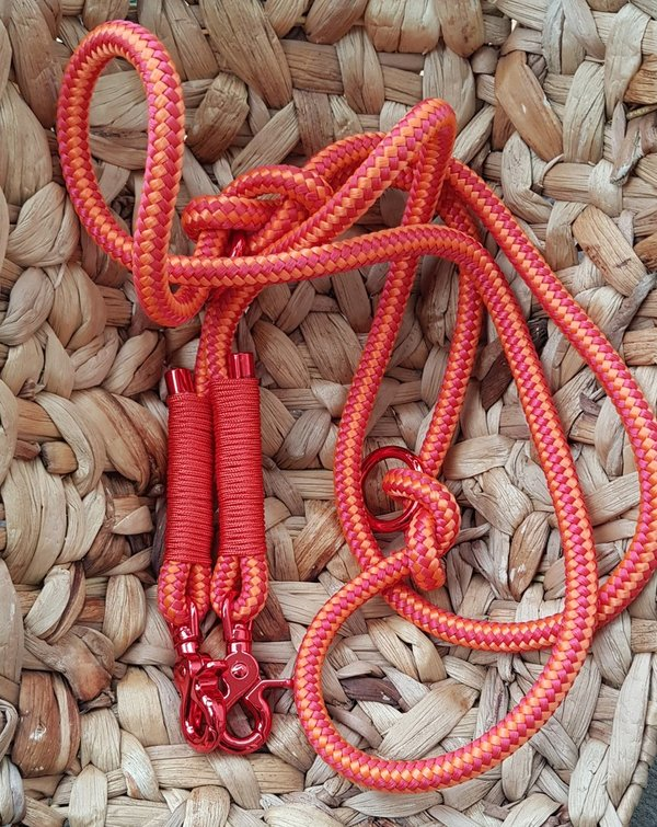 Hundeleine Orange - rot / orange 2,10